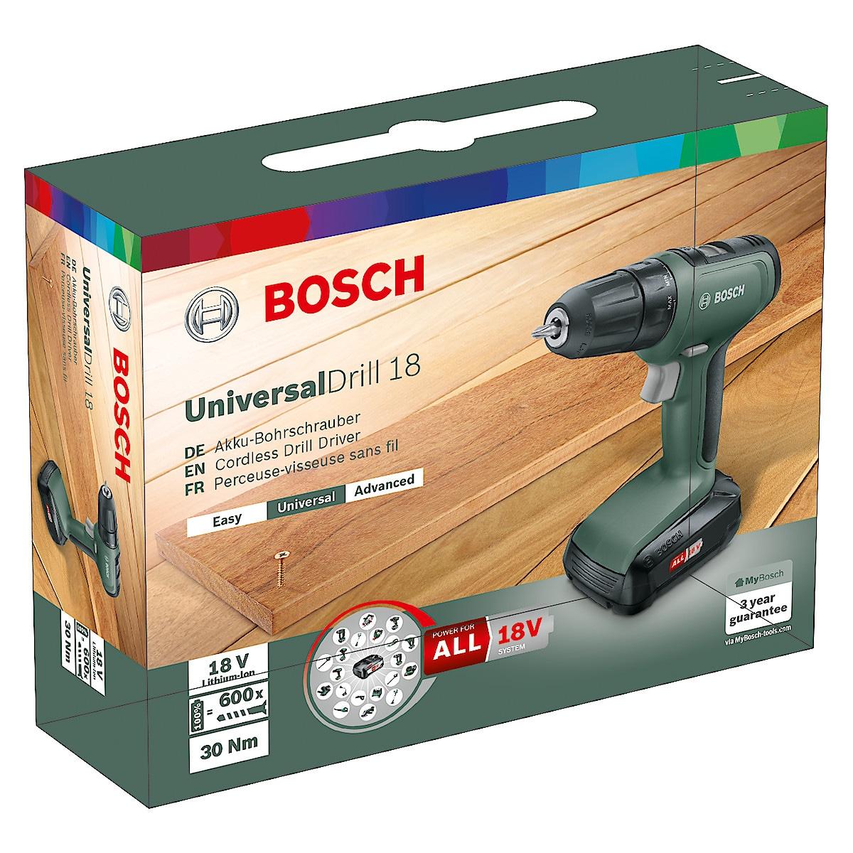 Porakone Bosch Universal Drill 18