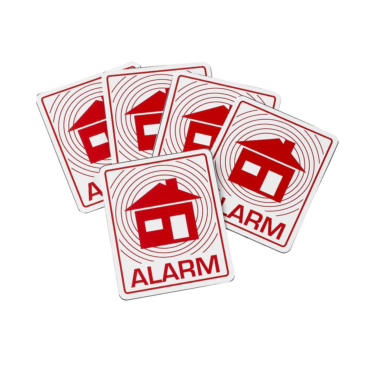 Larm- och varningsskyltar