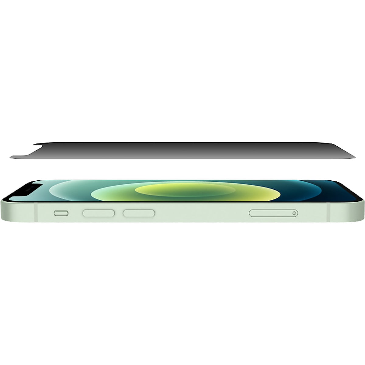 Belkin Tempered Glass Privacy Anti-Microbial, skjermbeskytter for iPhone 12 mini