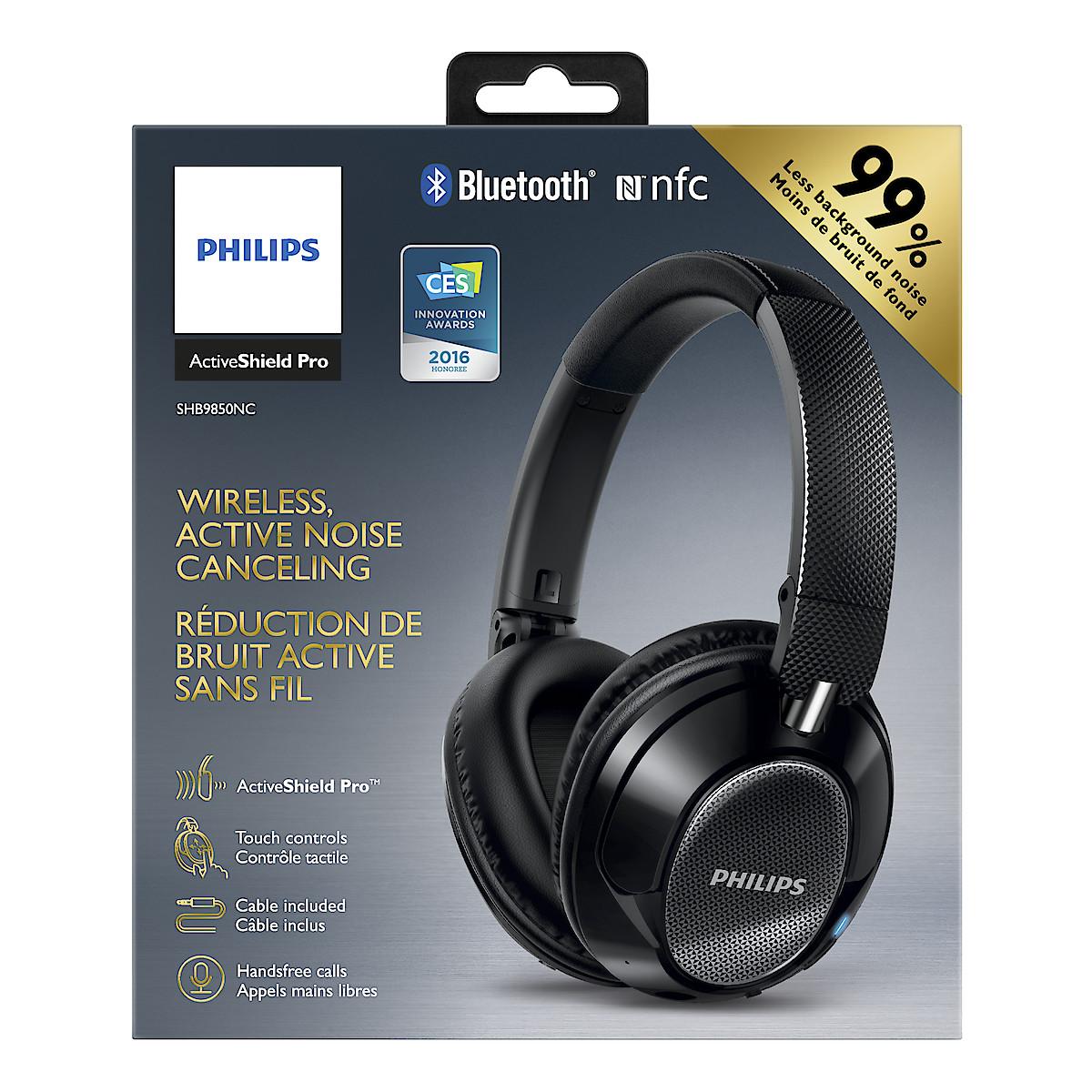 Trådlösa hörlurar med brusreducering Philips SHB9850NC