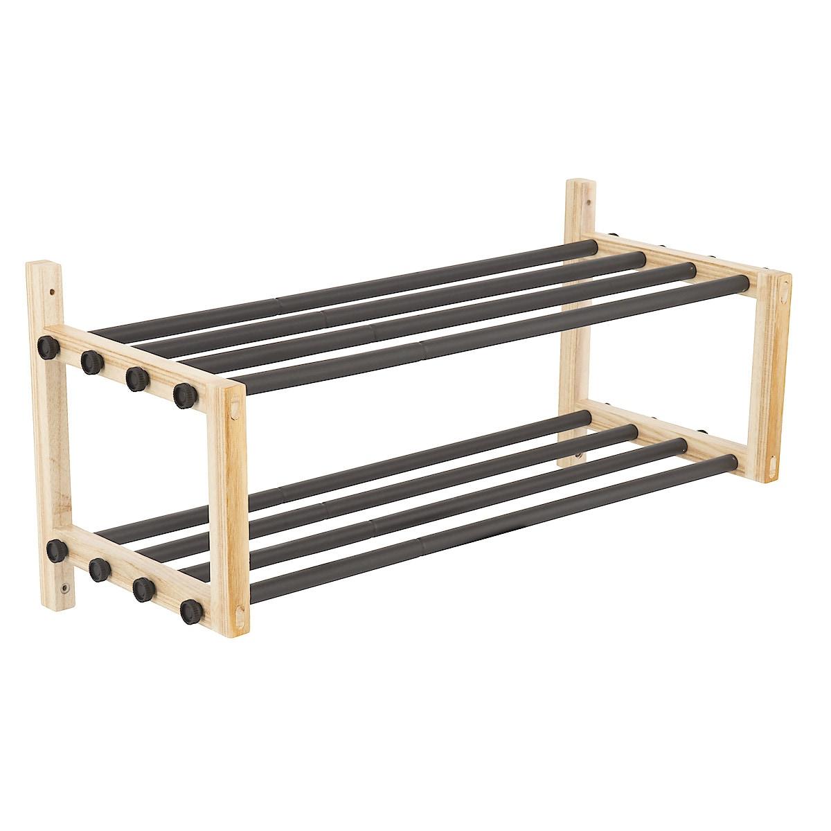 Hatthylla expanderbar trä/metall