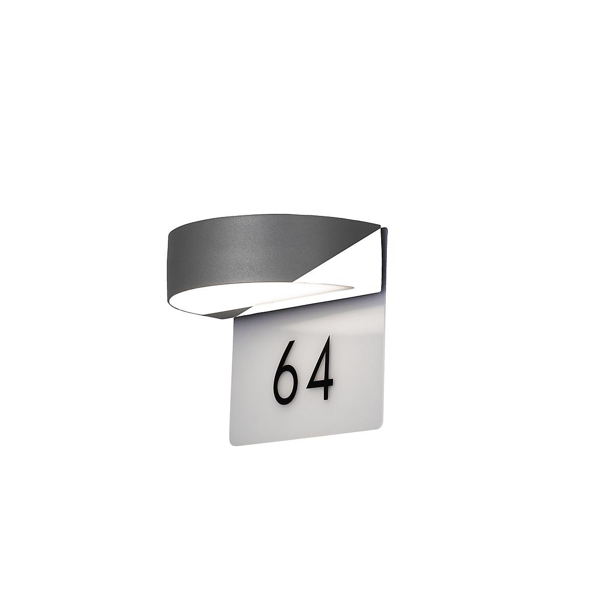Konstsmide Monza utelys med husnummer