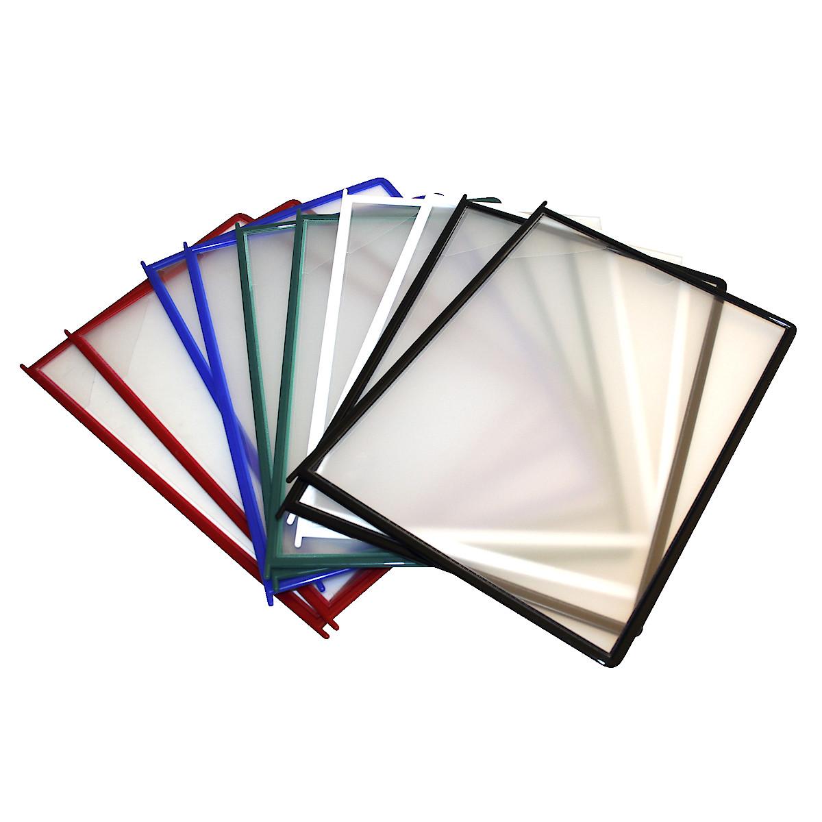 Paneelit Quickload Easymount-pöytätelineeseen, värilliset