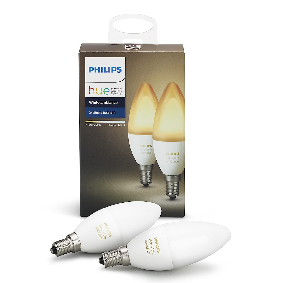 Philips Hue Ambiance LED-lampa 6 W E14, 2-pack