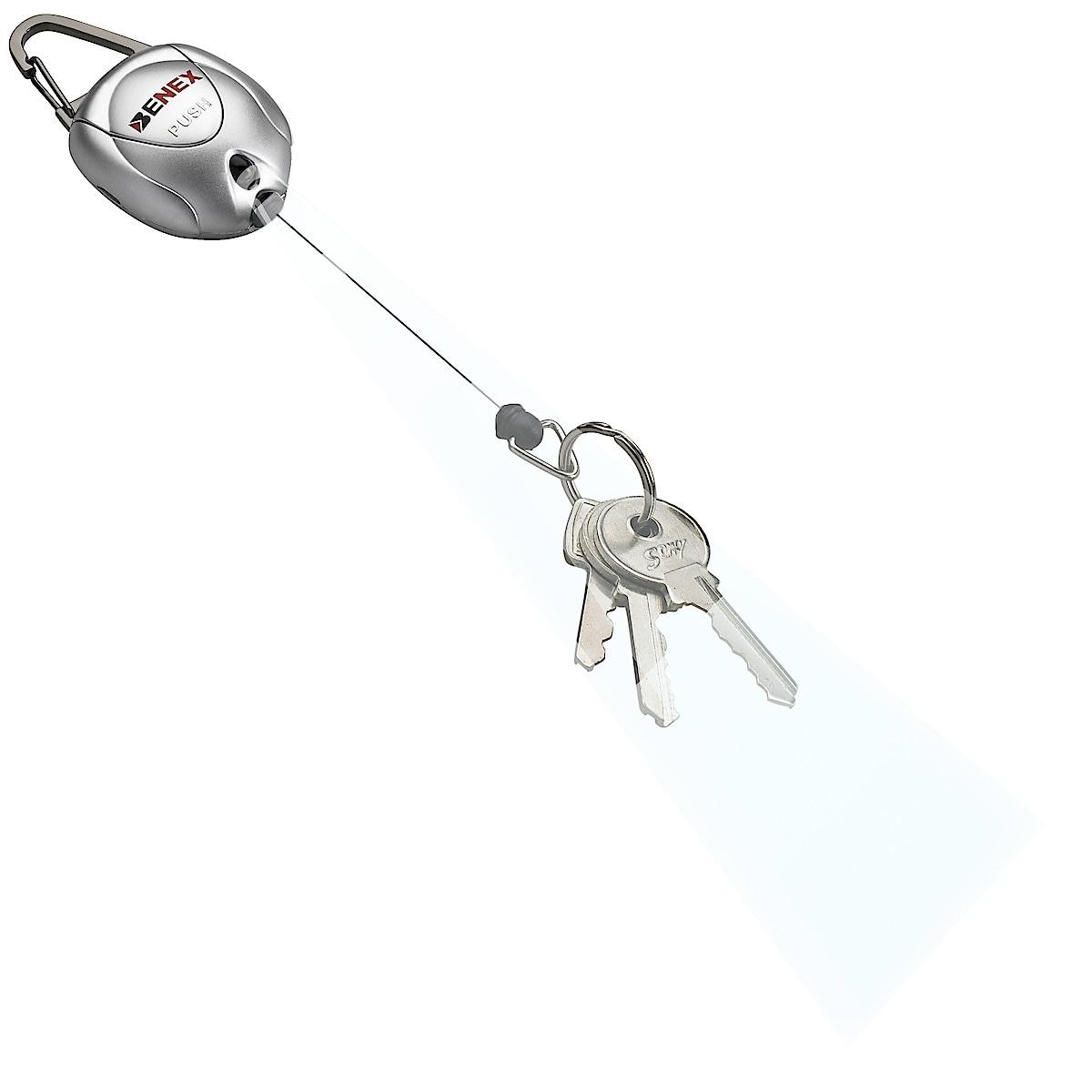 Nyckelring med nylonlina och lampa