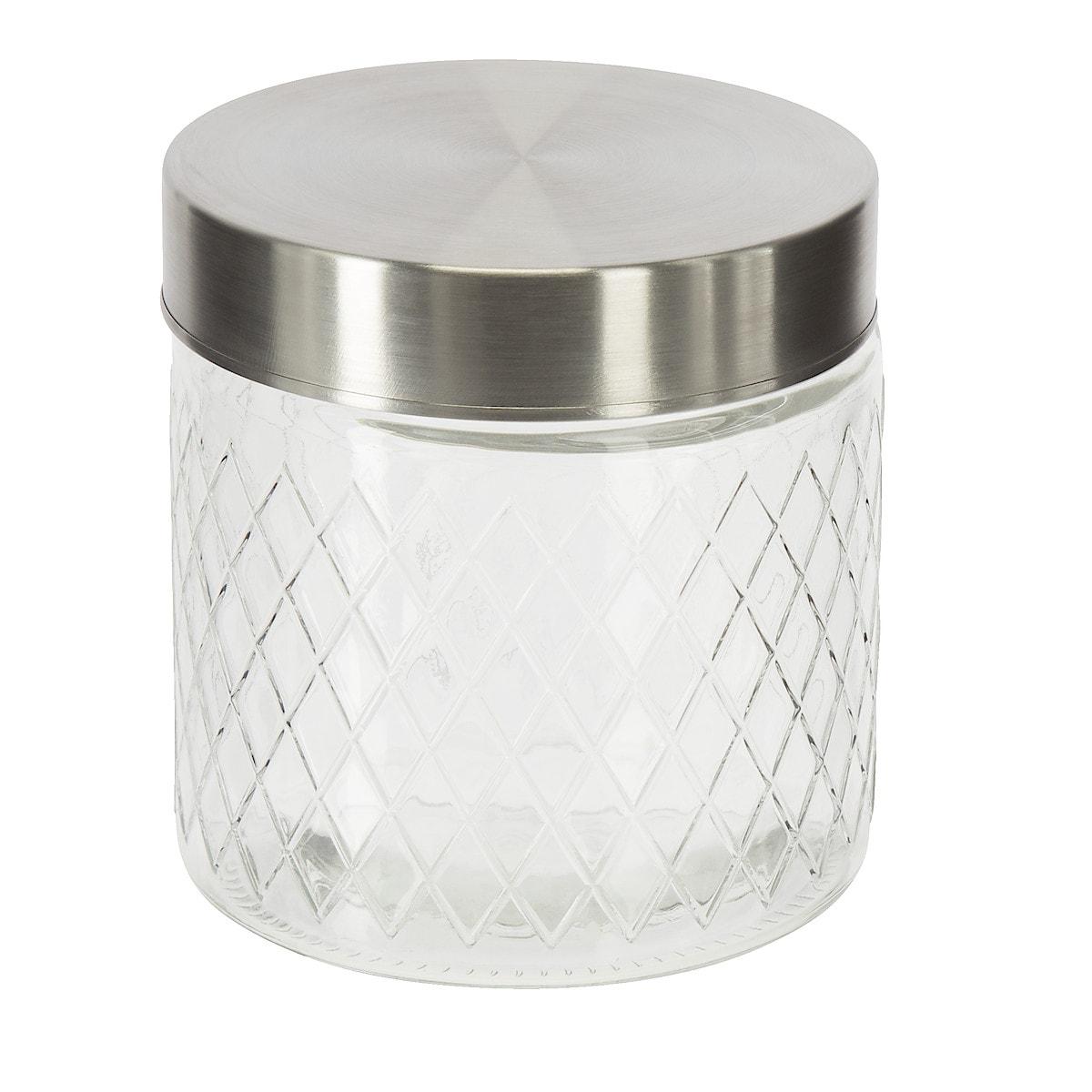 Glasburk med lock, Diamant