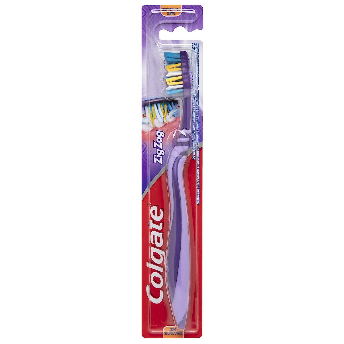 Colgate Zig-Zag soft  tannbørste