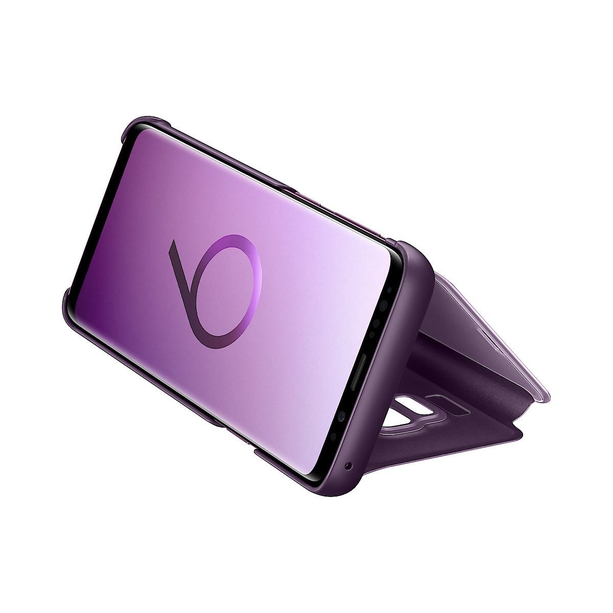 Flip-Case Galaxy S9, Samsung Clear View Standing Cover