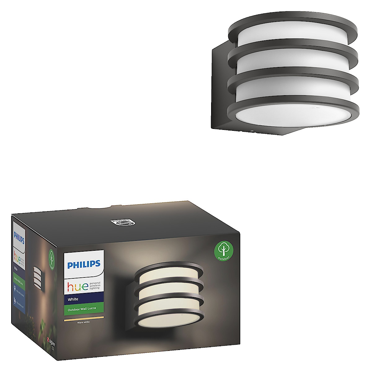 Vägglampa Lucca Philips Hue White