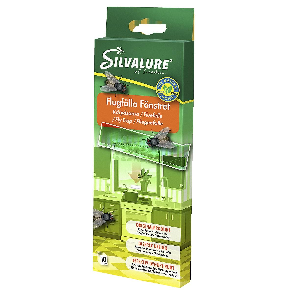 Flugfälla för fönster Silvalure