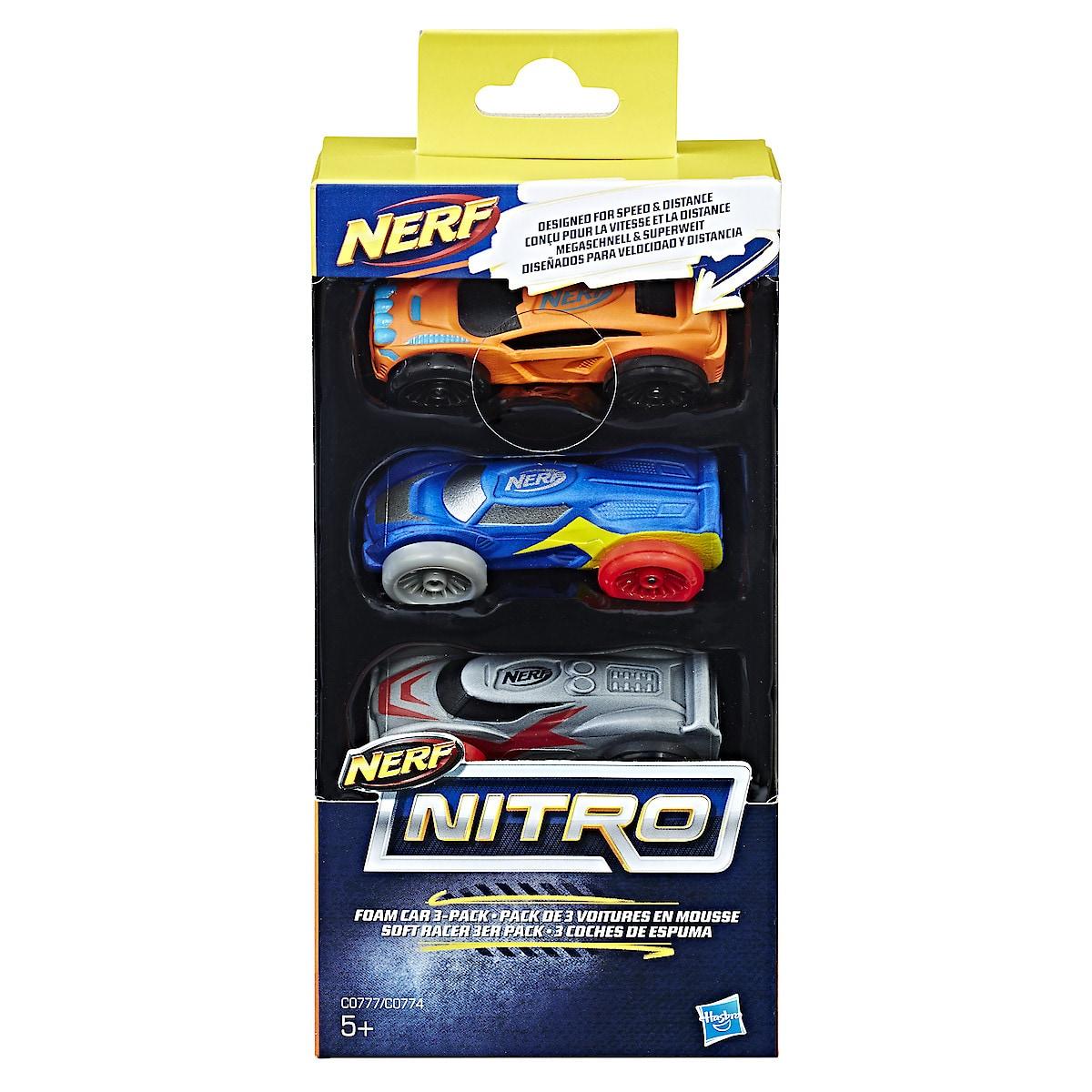 Nerf Nitro -autot 3 kpl