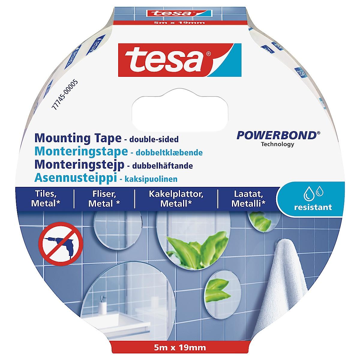 Monteringstejp kakel och metall Tesa