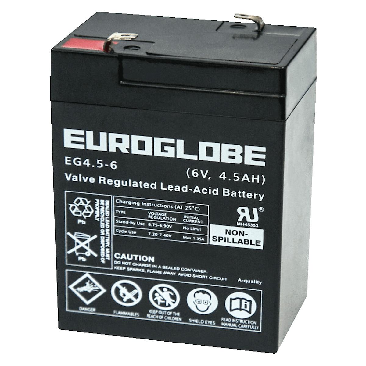 AGM-batteri 6 V, 4,5 Ah