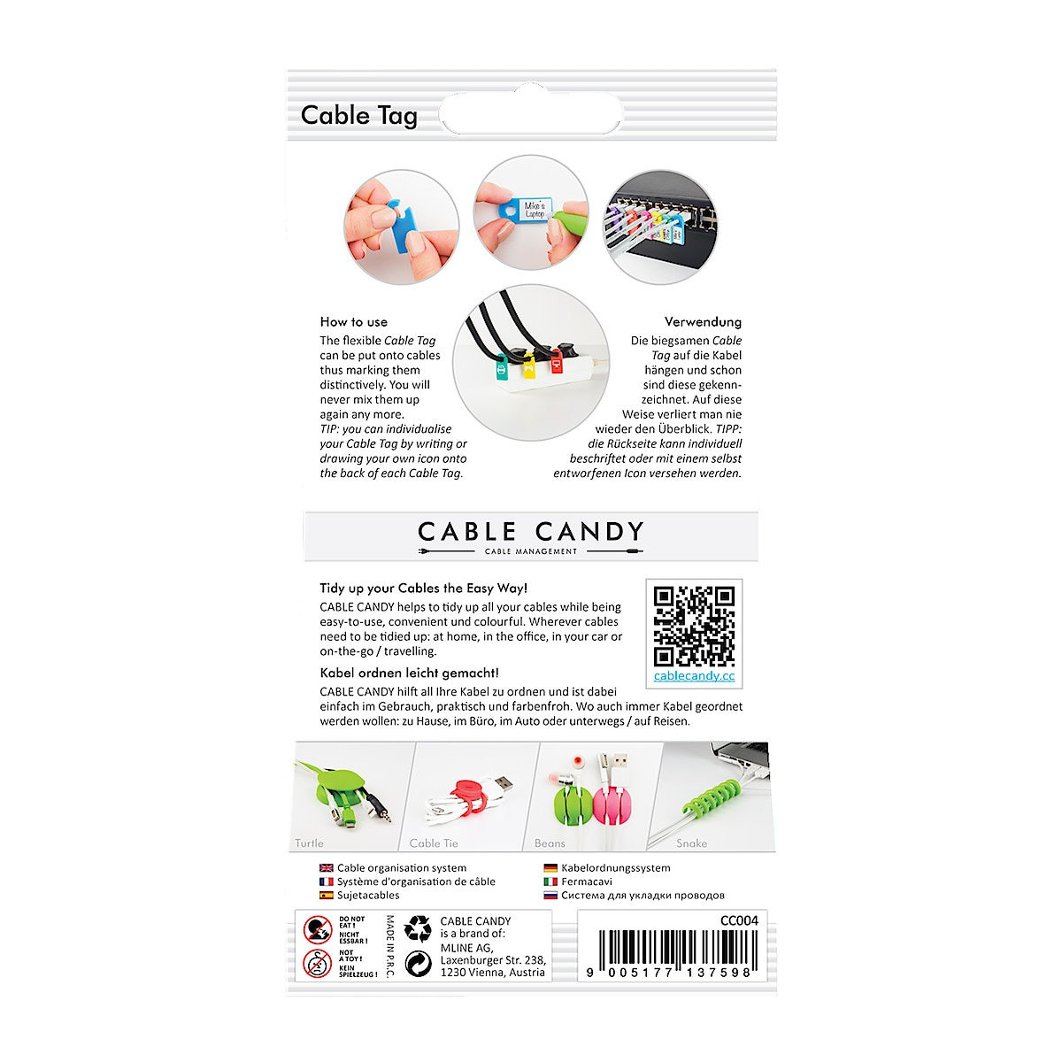 Cable Candy Cable Tag 8-pack kabelmerking