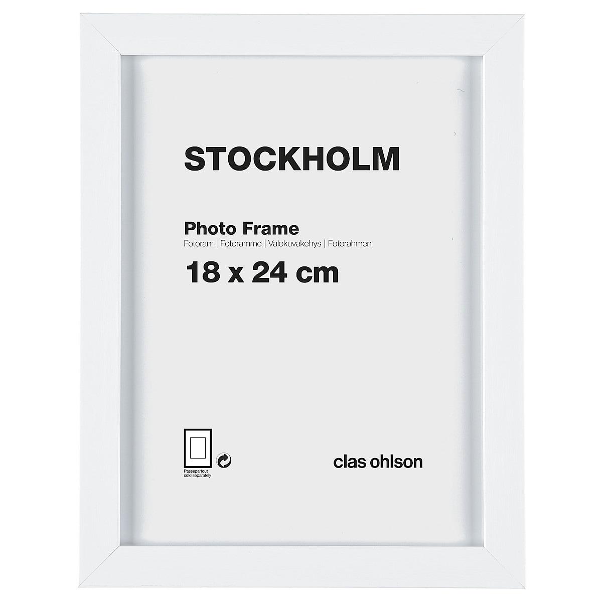 Fotoram Stockholm, vit