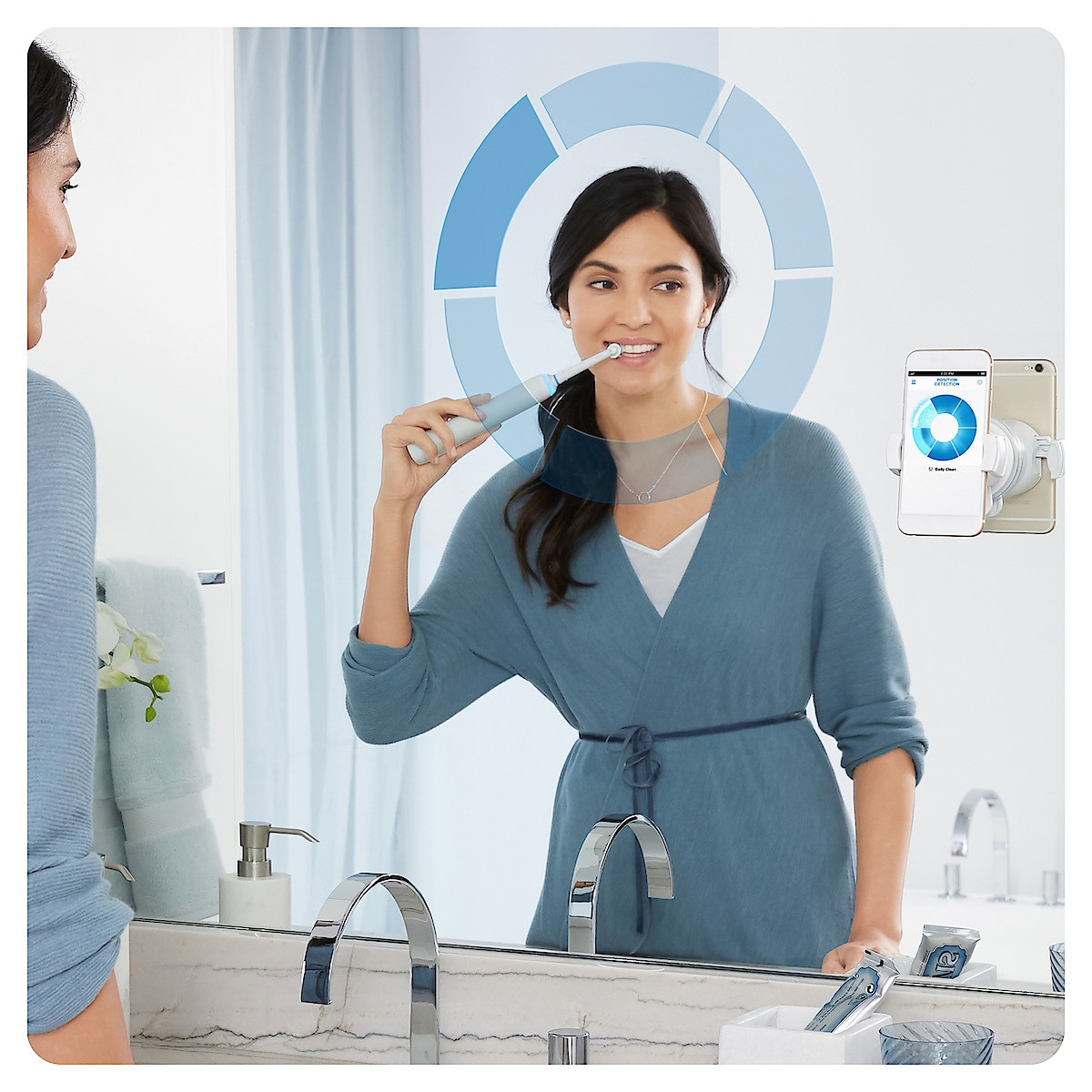 Oral-B Genius 8200W Silver Electric Toothbrush