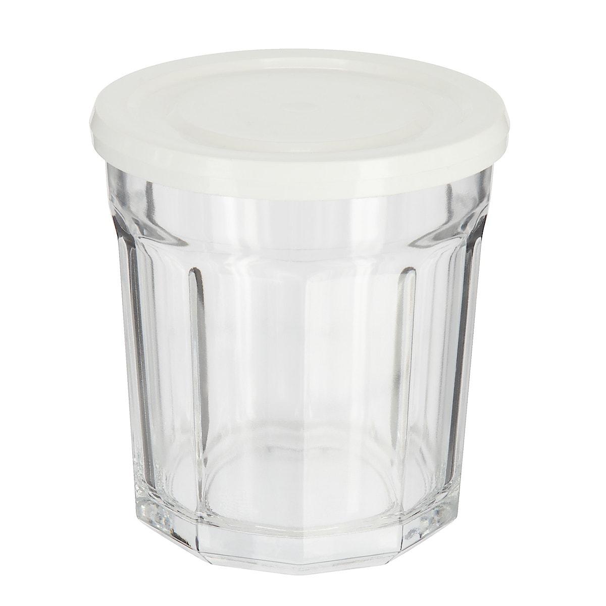 Glasskrukke  med plastlokk