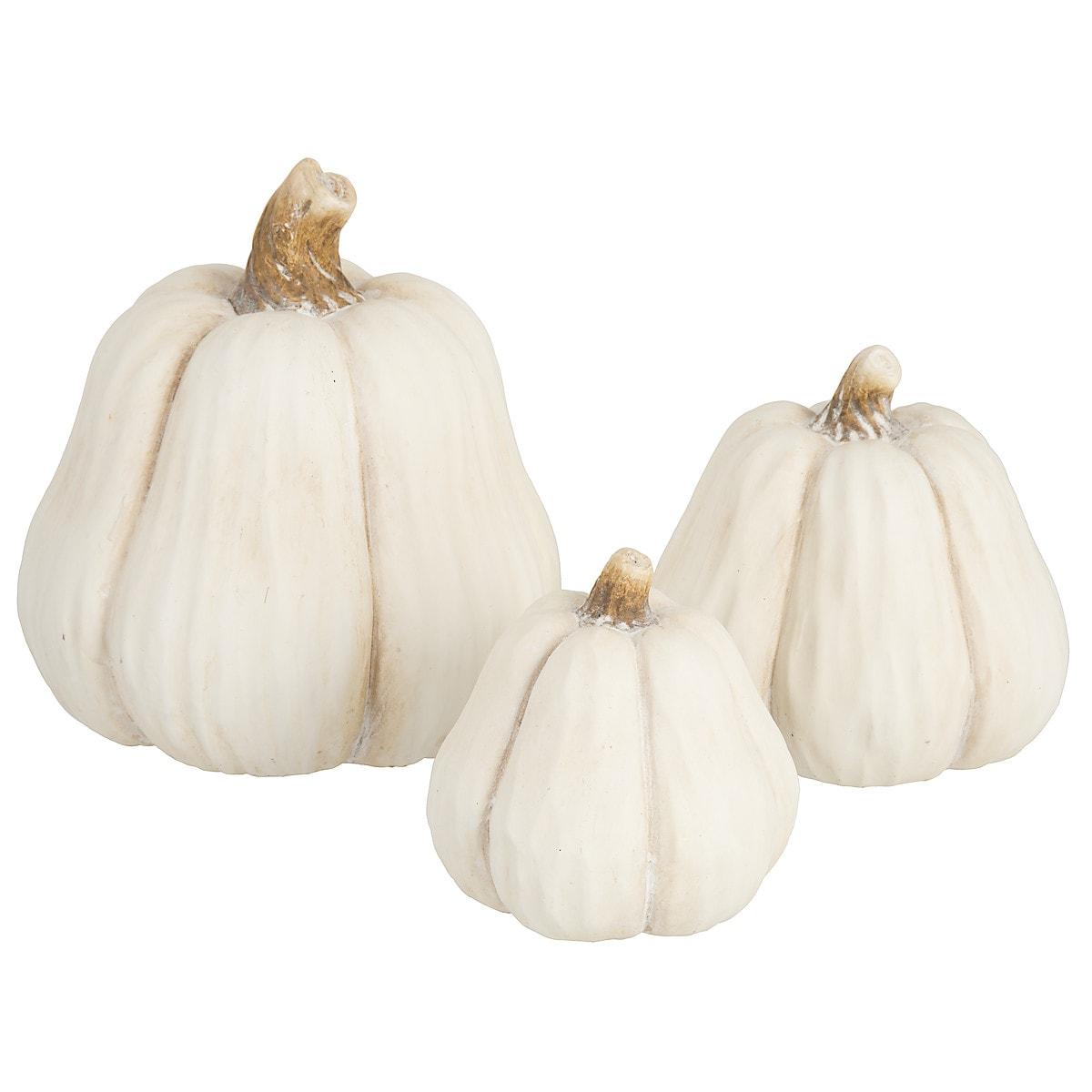 Halloween Decorative Pumpkin Beige