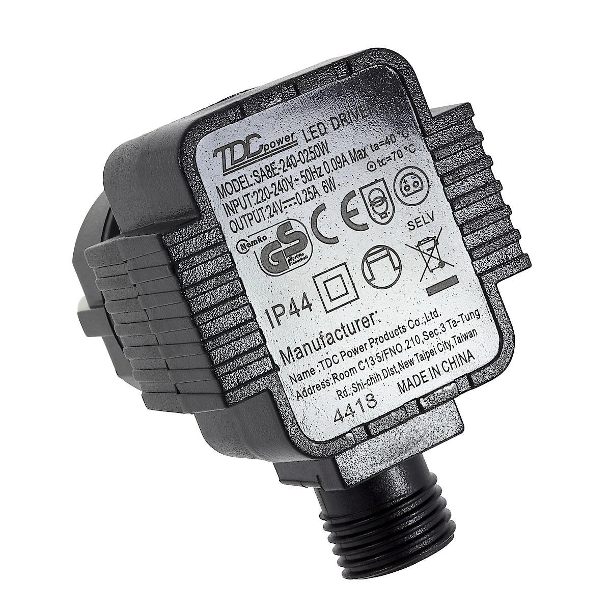 Muuntaja 24 V DC/0,25 A