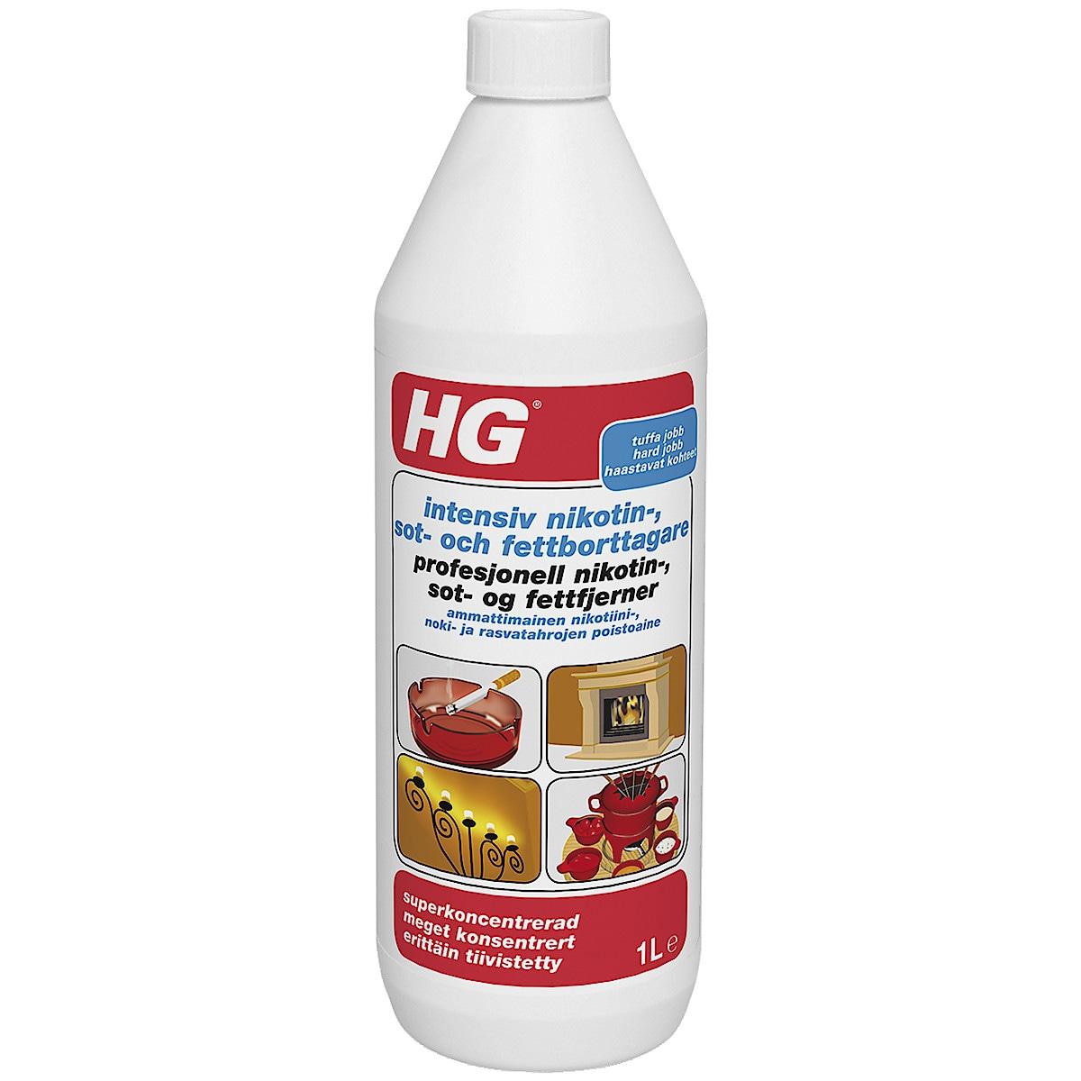 Puhdistusaine noki- ja nikotiinitahroille HG