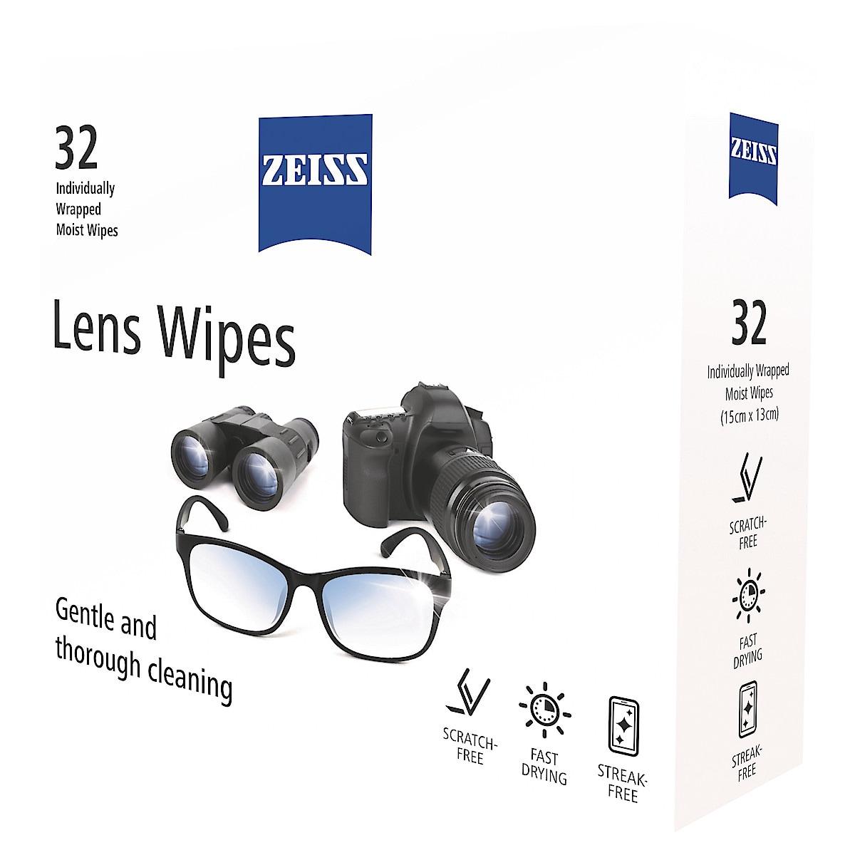 Våtservetter för skärmrengöring Zeiss Lens Wipes