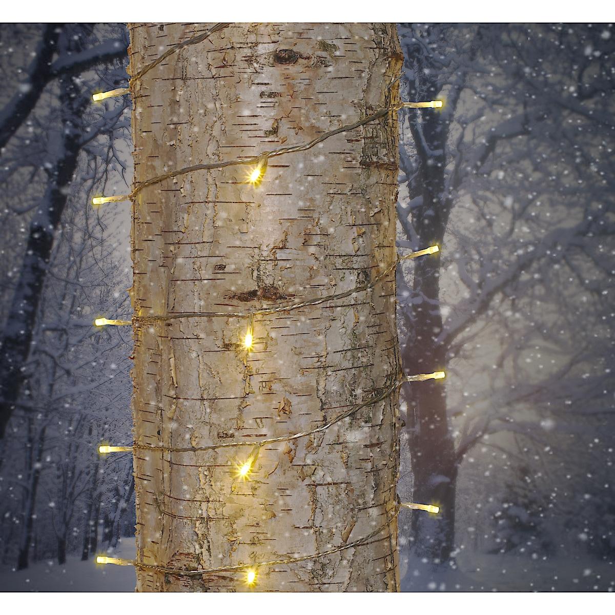 Ljusslinga med varmvita LED-lampor Northlight