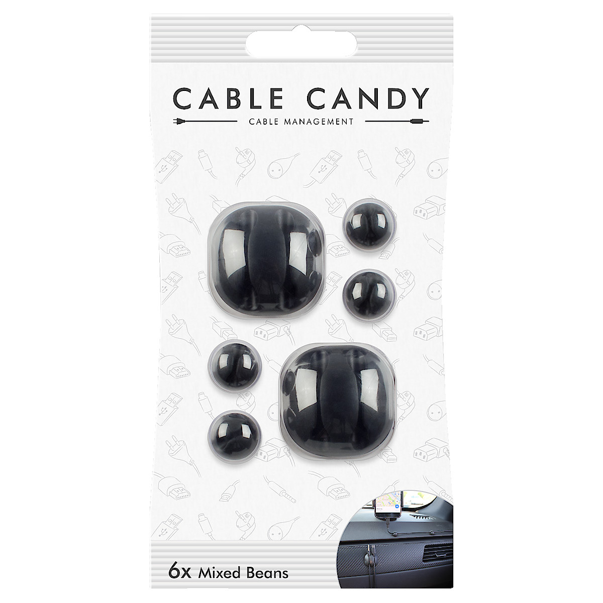 Cable Candy Bunny Beans 6-pack kabelholder