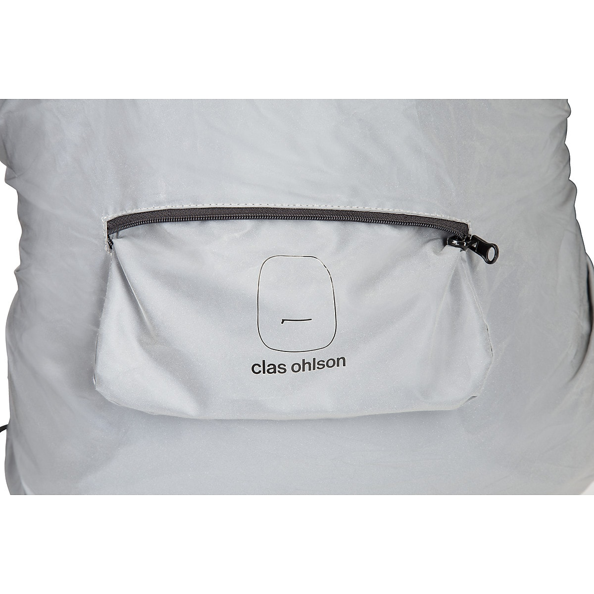 Regnöverdrag med reflex för ryggsäck
