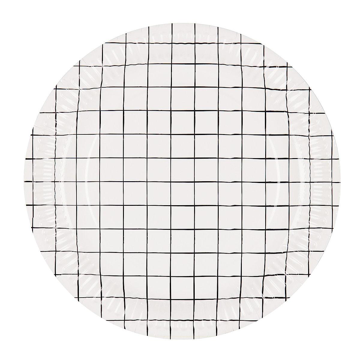 Kertakäyttölautanen Grid 23 cm 20 kpl