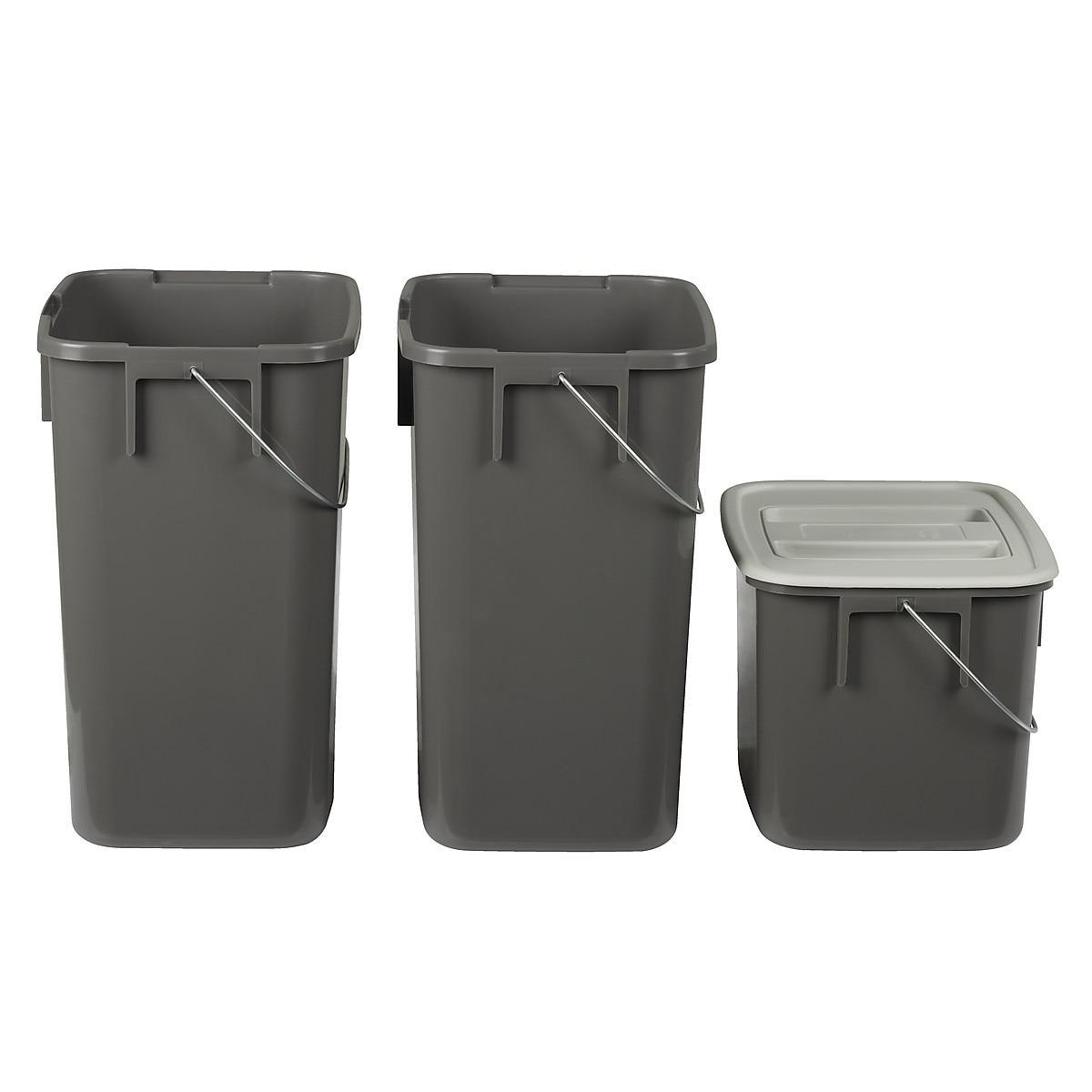 Kildesorteringssett til avfall, med uttrekk | Clas Ohlson