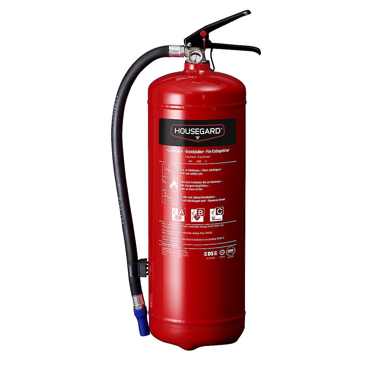 Housegard brannslukker 6 kg 55A