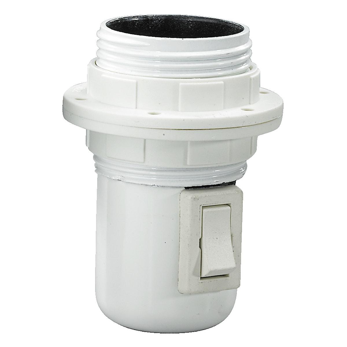 Lamphållare E27 med strömbrytare