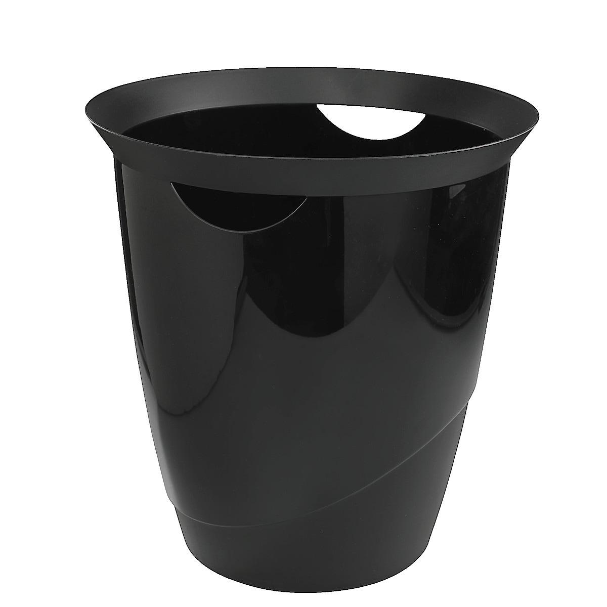 Papperskorg plast med handtag