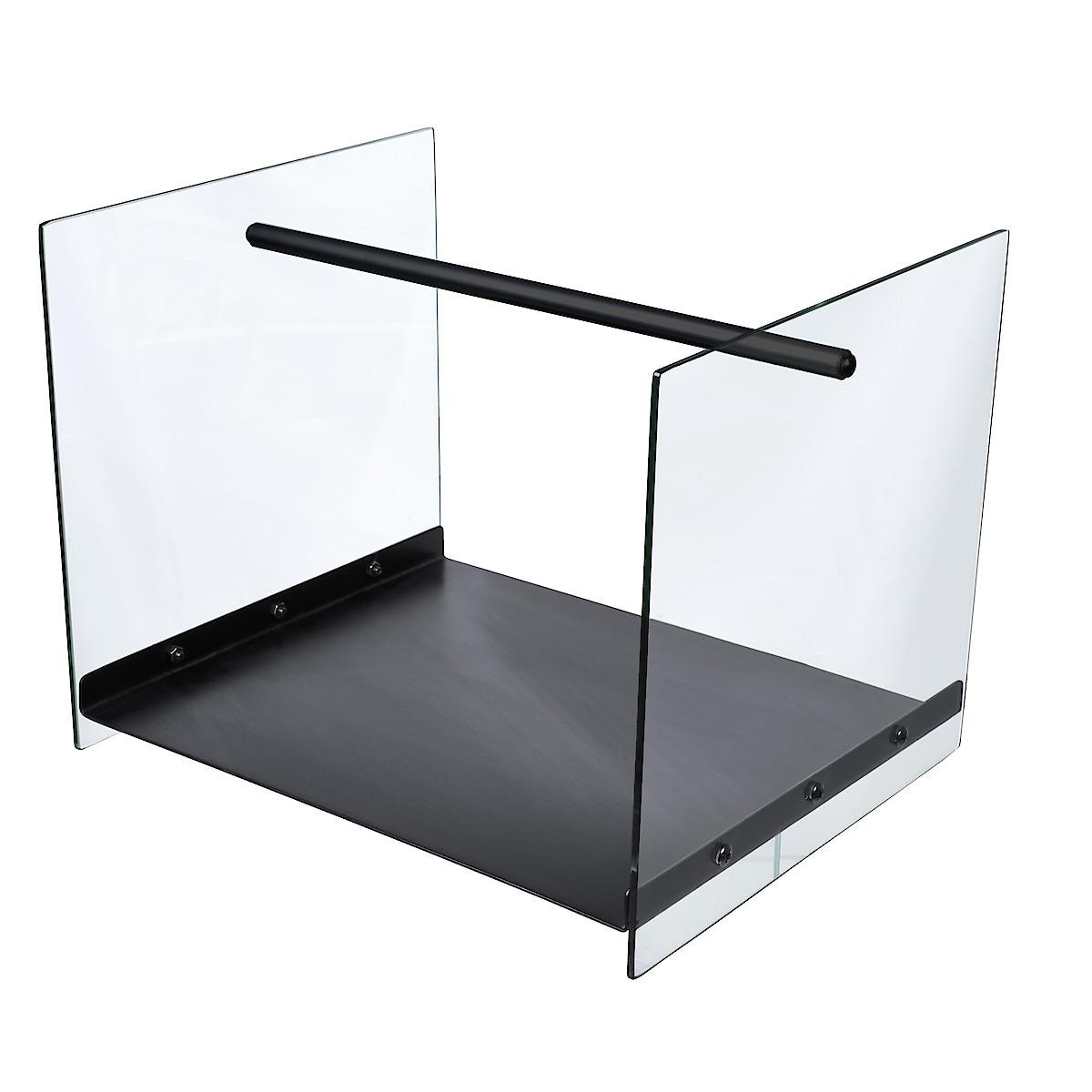 Vedkorg med glassidor