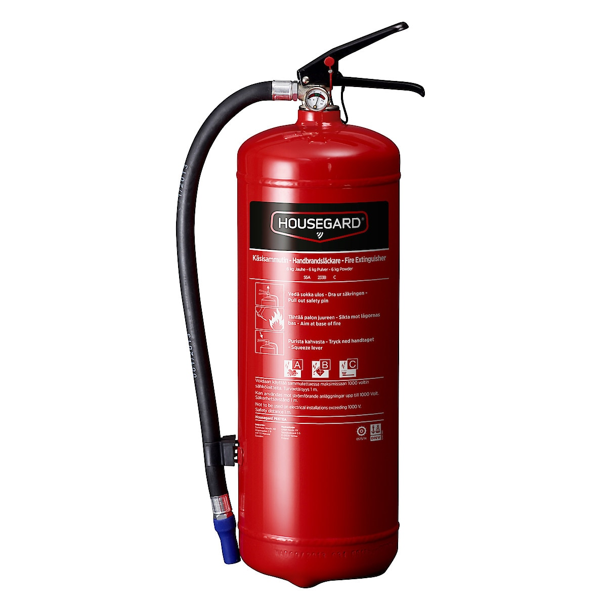 Brandsläckare 6 kg 55A Housegard