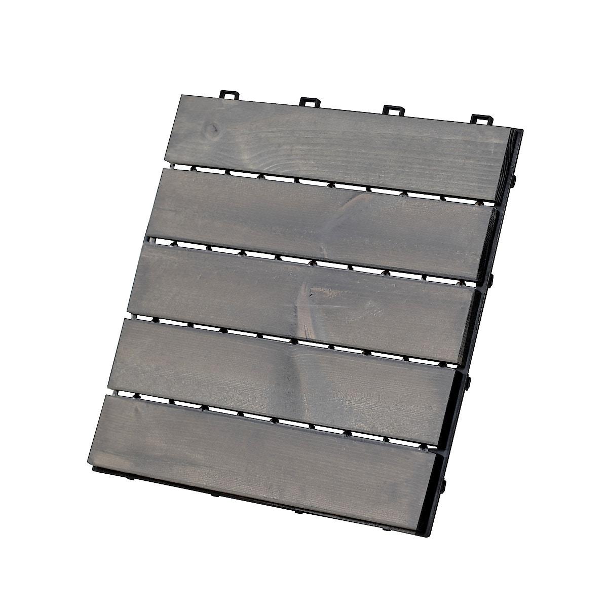 Golvplattor trall, gråbetsad furu 4-pack