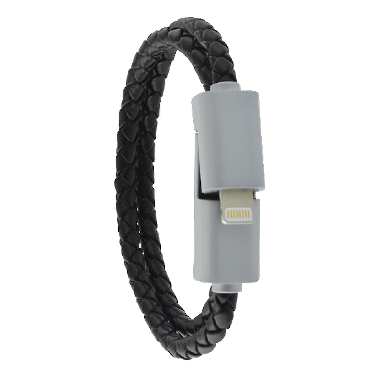 Läderarmband med laddkabel för iPhone/iPad