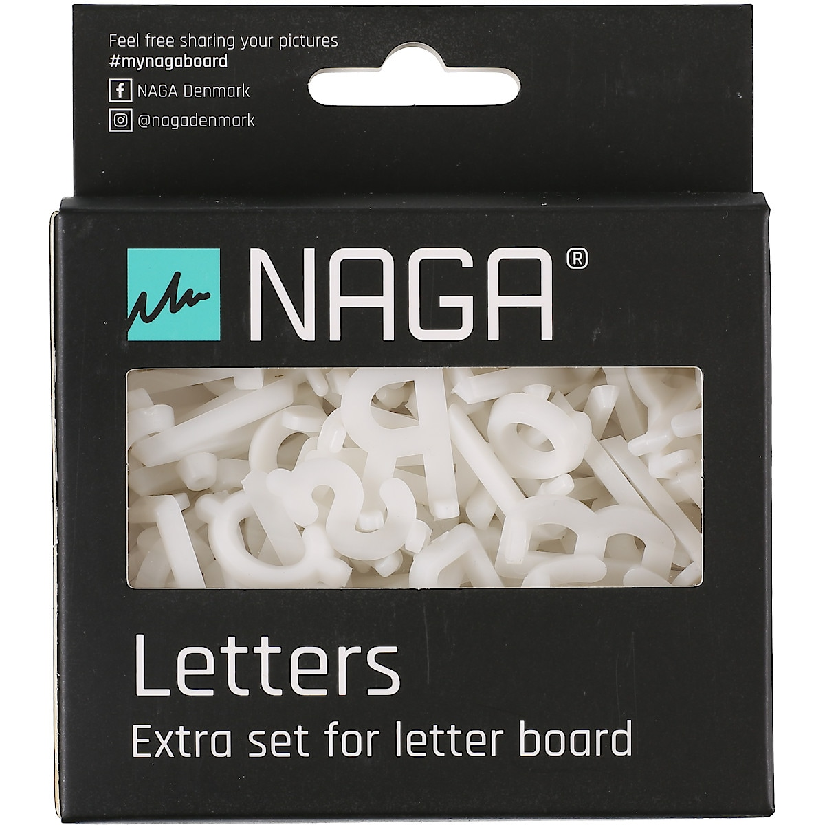 Bokstäver och siffror till bokstavstavla, Naga