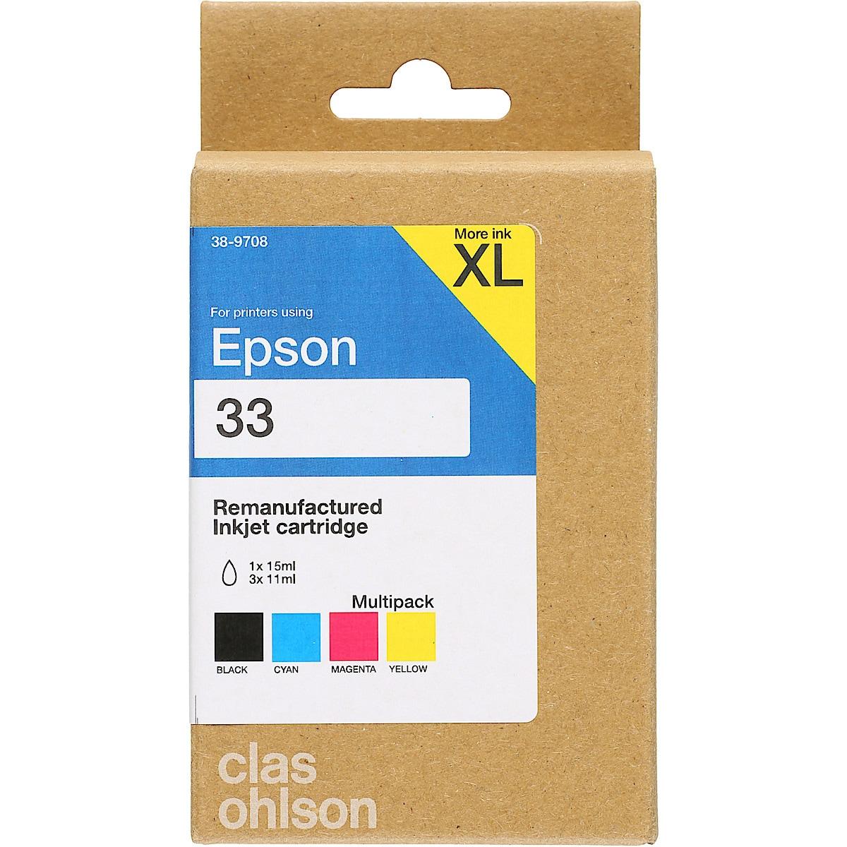 Epson T33 bläckpatron multipack XL, Clas Ohlson