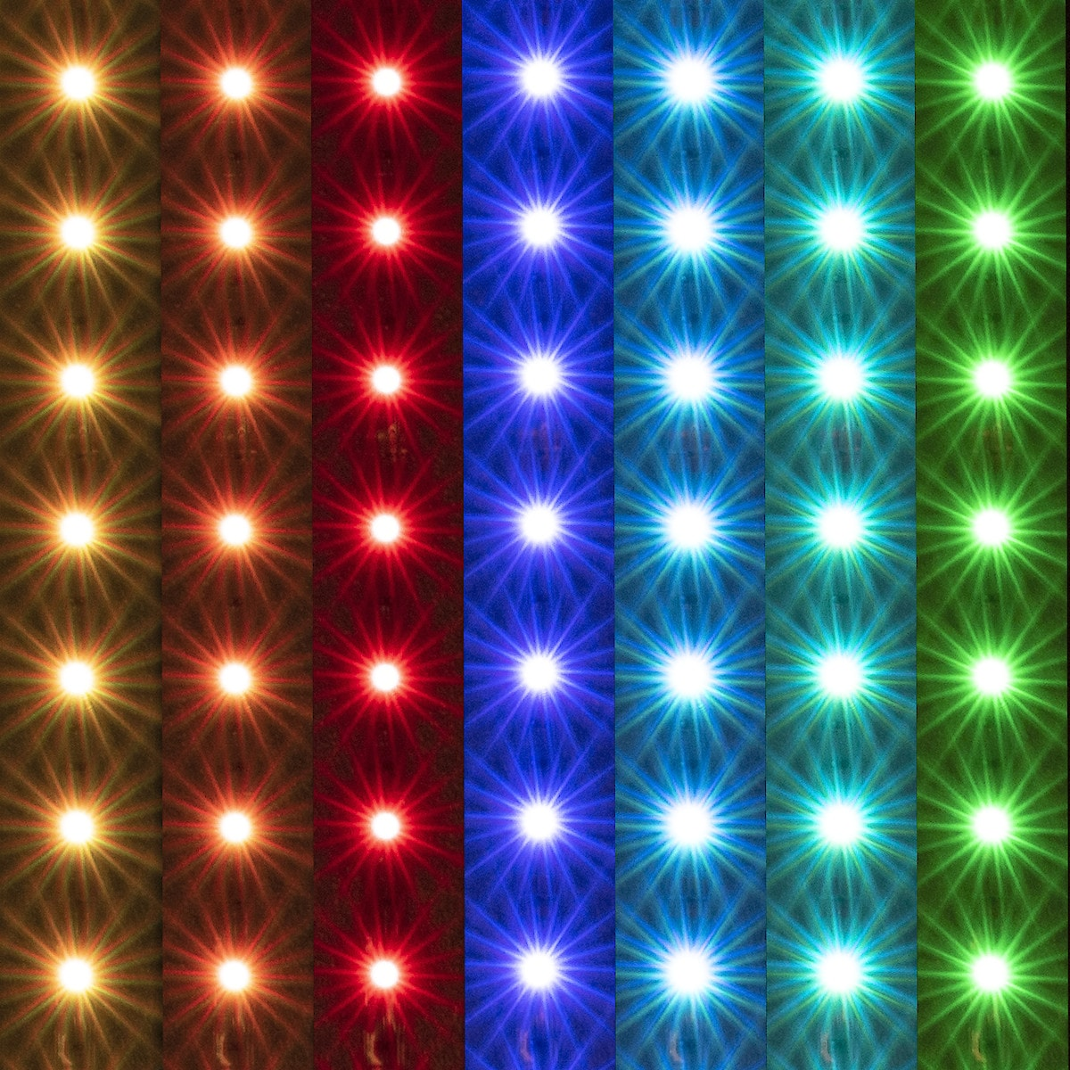 LED list RGB 3 meter, til innendørsbruk (IP20)