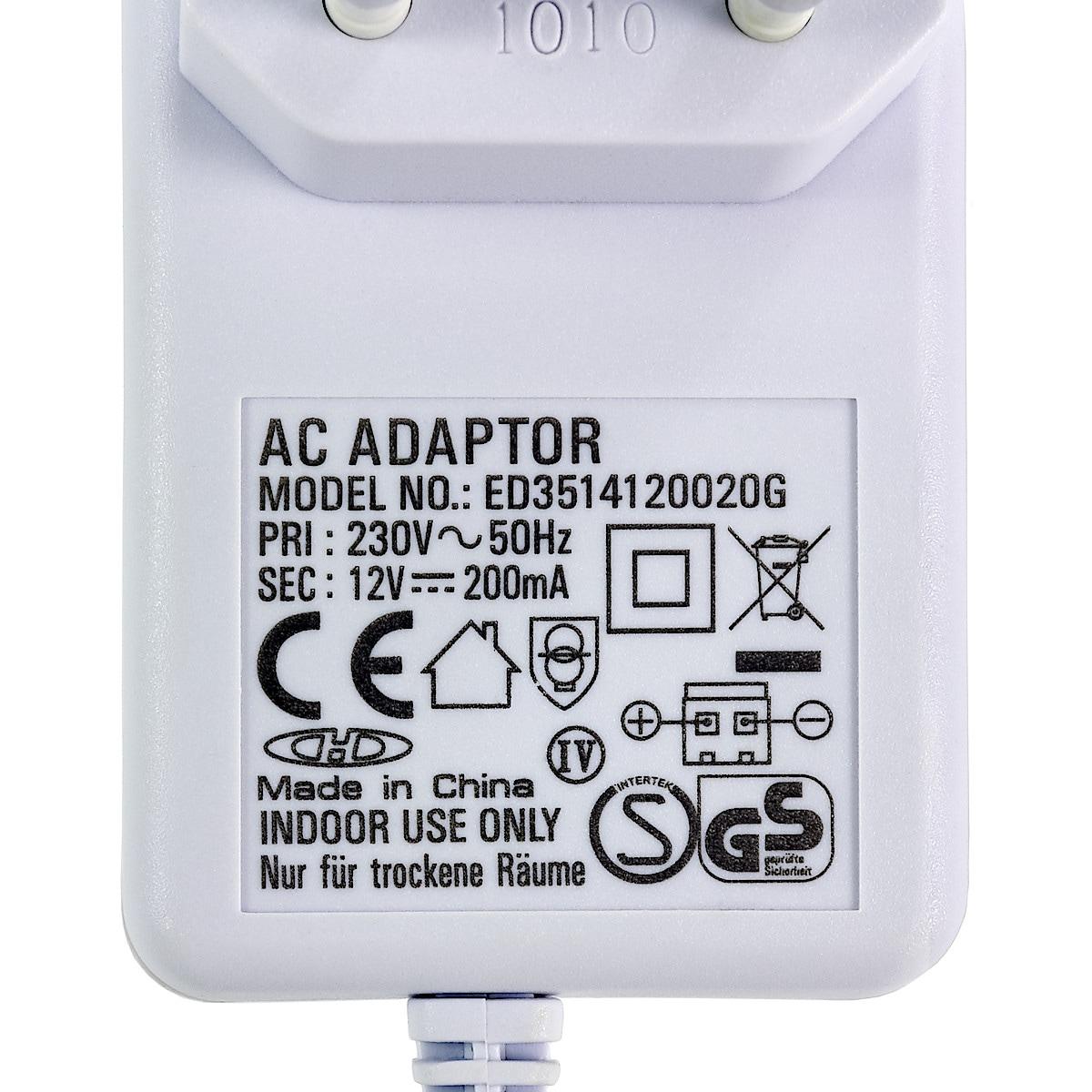 Nettadapter 12 V DC/200 mA