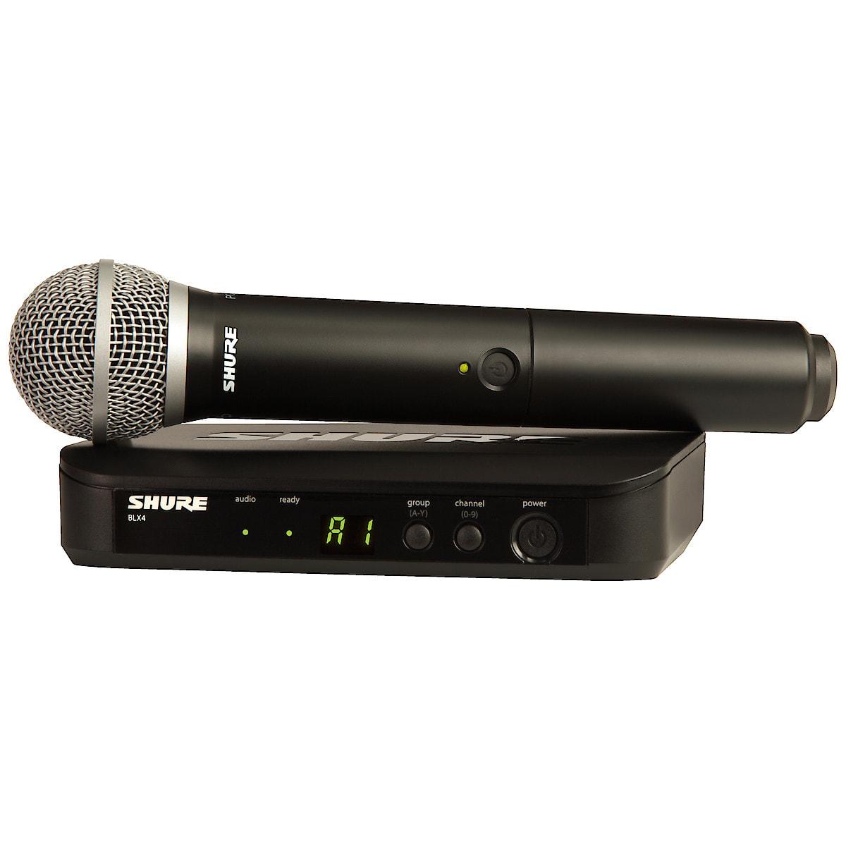Langaton mikrofoni ja vastaanotin Shure BLX24/PG58