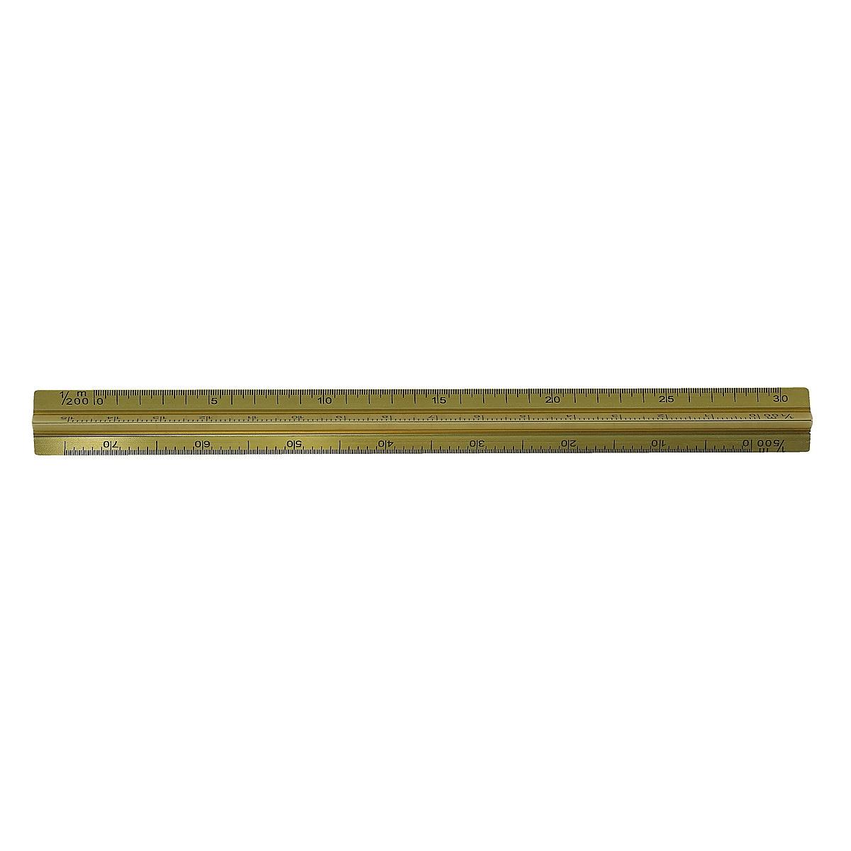 Linjal med skalor 15 cm