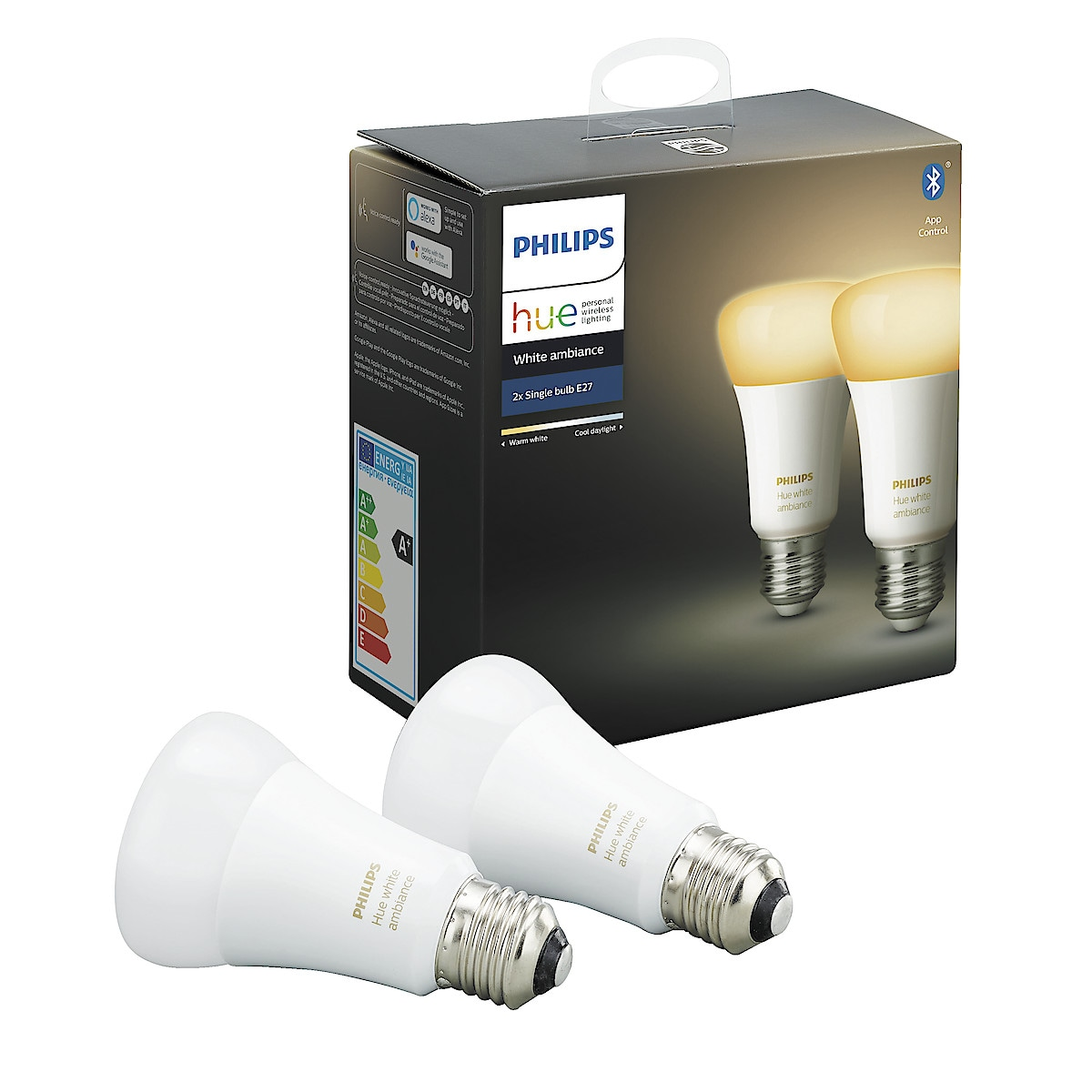 Philips Hue Ambiance LED-lampa 95 W E27 2-pack Bluetooth