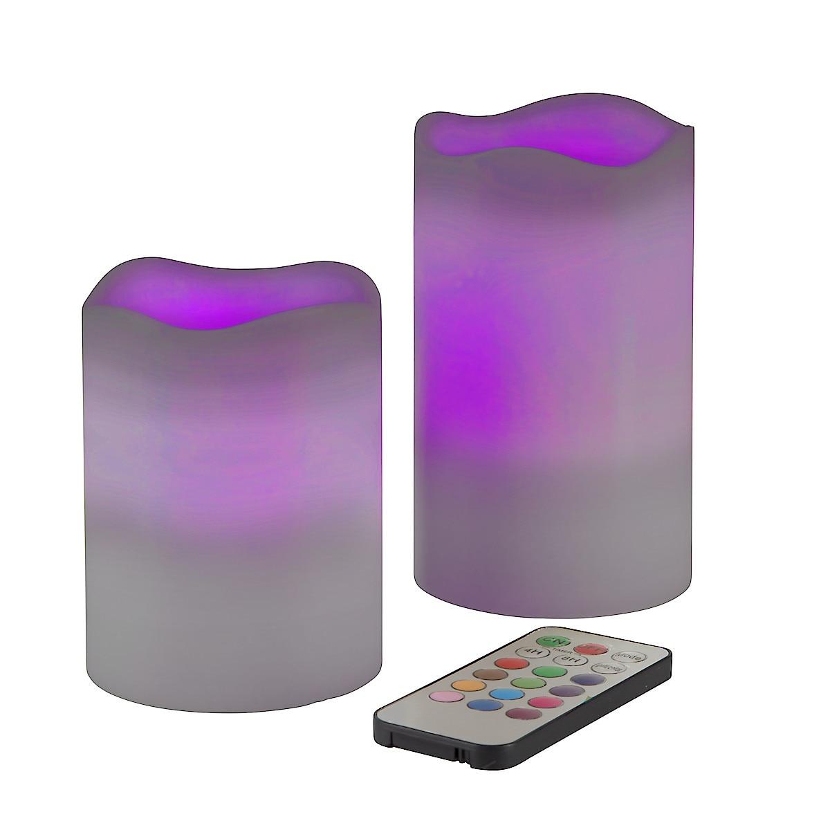 Blockljus LED Colour 2-pack