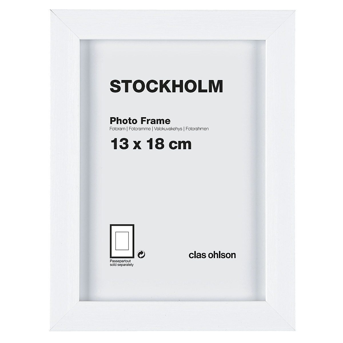 Fotoram Stockholm vit
