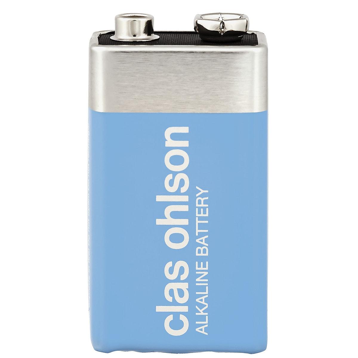 Alkaliskt batteri 9 V Clas Ohlson
