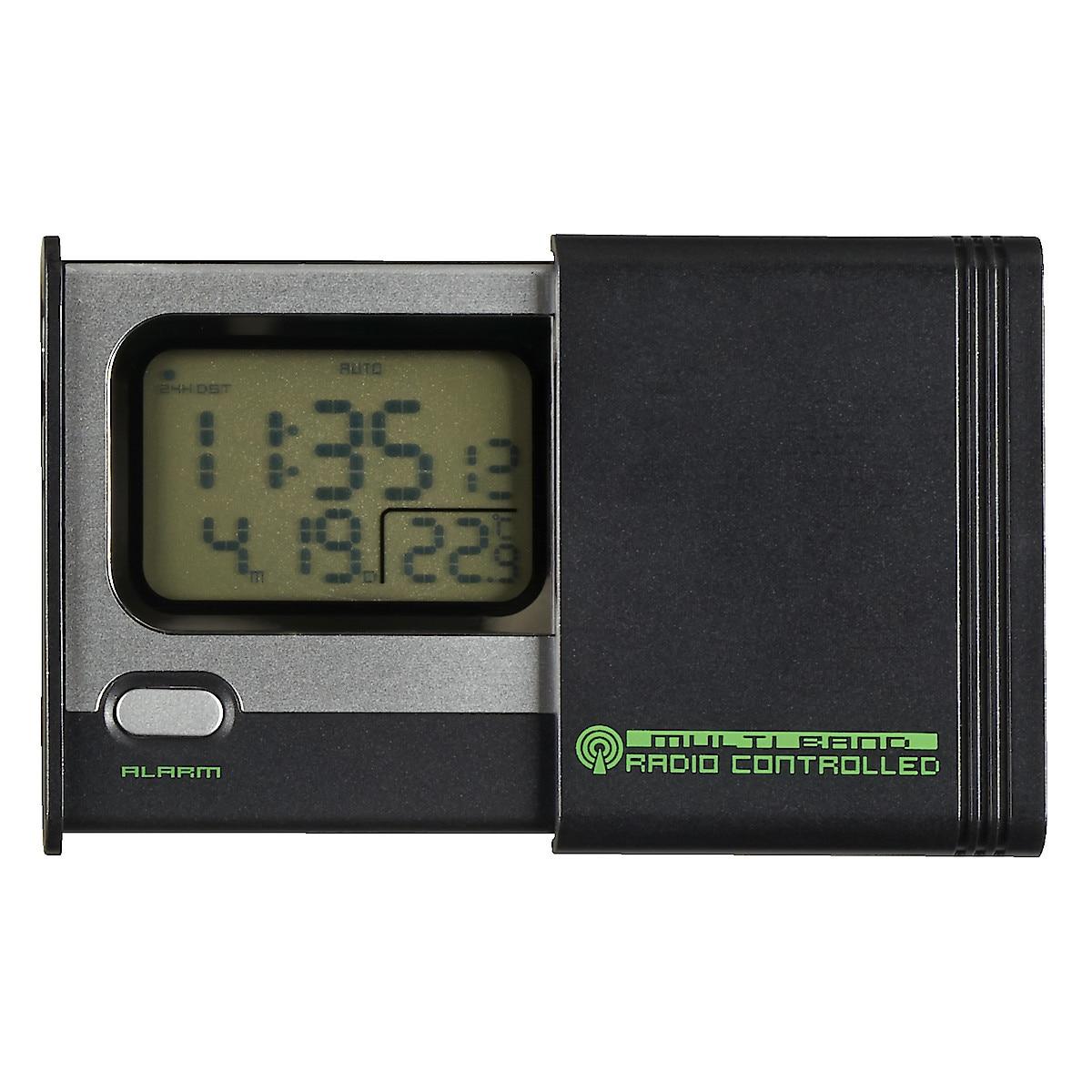 Radiokontrollert reisevekkerklokke