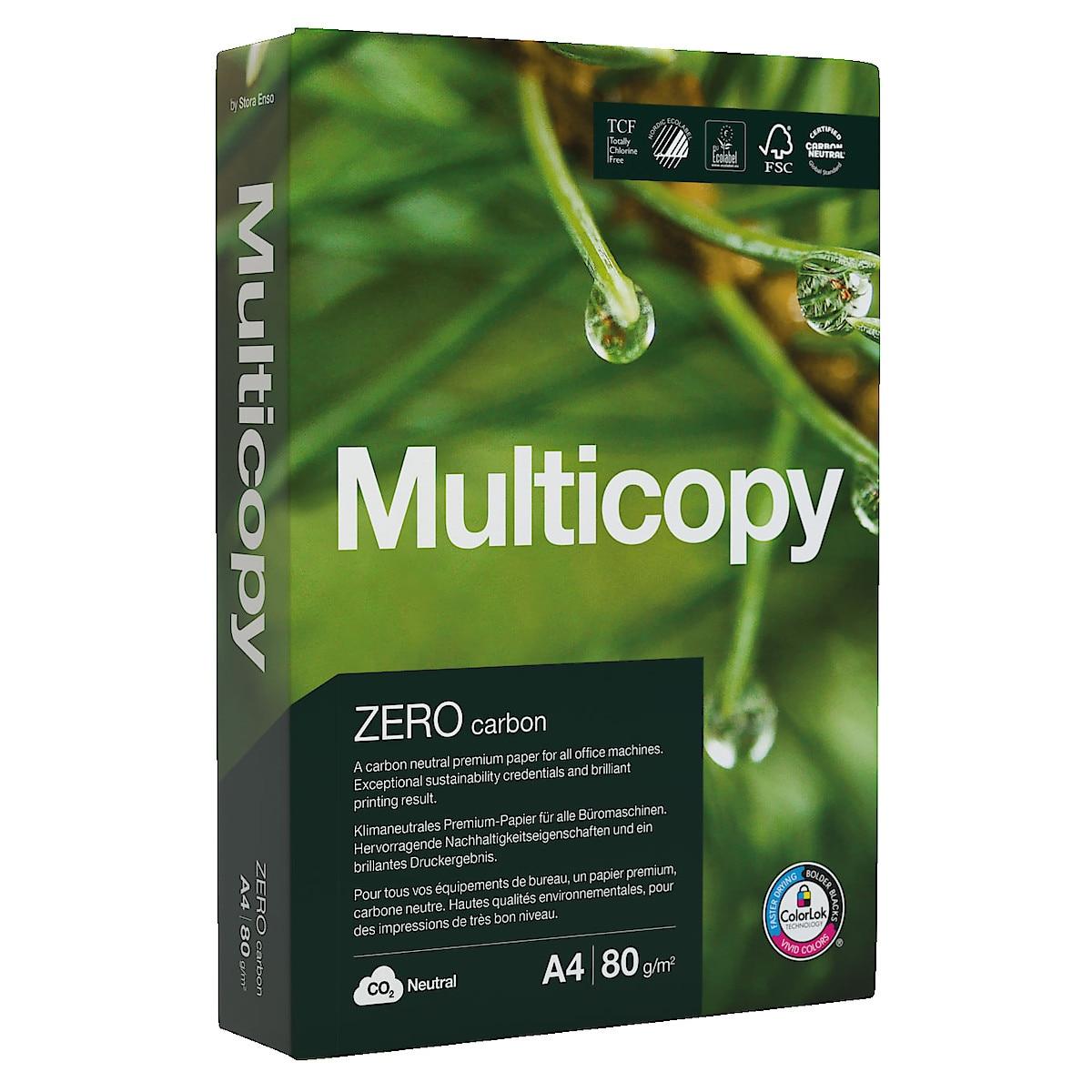 Multicopy Zero 80 g/m² kopipapir