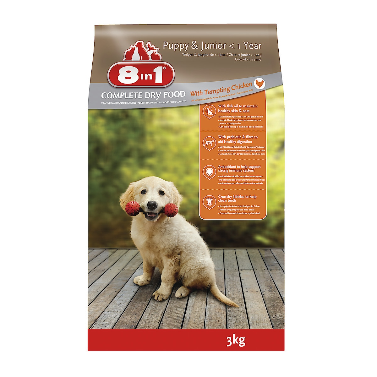 Hundfoder Puppy & Junior Chicken 8in1